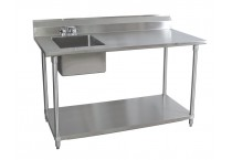 Stainless Steel Work Tables with Sink